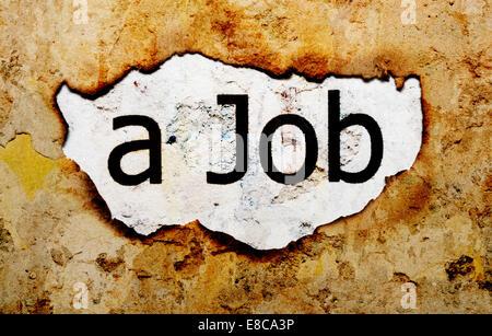 Job text on grunge background - Stock Photo