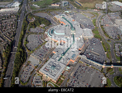 aerial view of The Trafford Centre in Manchester, UK - Stock Photo
