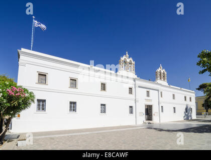 Church of Our Lady of a Hundred Doors in Parikia on Paros Island, Cyclades, Greece - Stock Photo