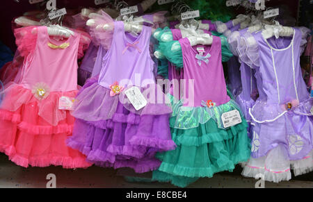 display of halloween costumes for young girls at the party city store in greenwich village - Party City Store Costumes