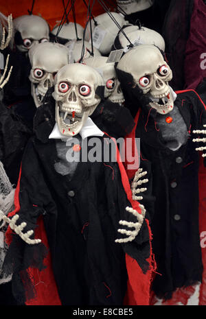 display of halloween decorations for sale at the party city store in greenwich village manhattan - Halloween Decorations Sale