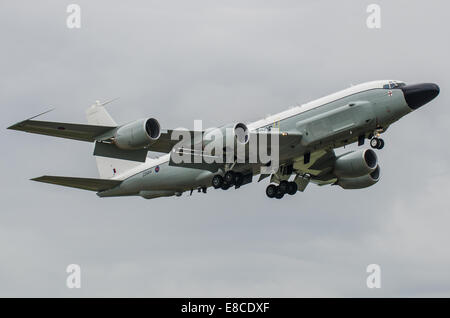 RAF Boeing RC-135W Rivet Joint is a large all weather electronic surveillance aircraft based on the C-135 airframe - Stock Photo