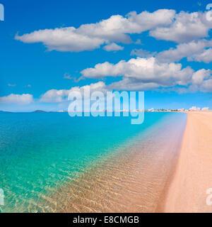 Playa Paraiso beach in Manga Mar Menor Murcia at Spain - Stock Photo