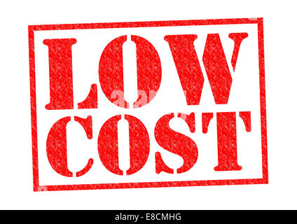 LOW COST red Rubber Stamp over a white background. - Stock Photo