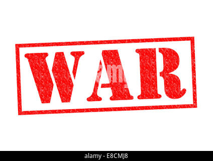WAR red Rubber Stamp over a white background. - Stock Photo