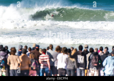 Seignosse, France. 5th Oct, 2014. John John Florence, of Hawaii, emerged victorious, beating Jadson Andre, (Brazil). - Stock Photo