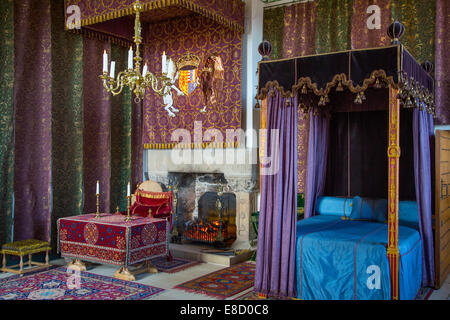 Queen's bedroom at Stirling Castle, Stirling, Scotland - Stock Photo
