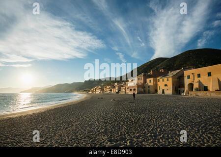 Typical houses on the beach, Varigotti, Finale Ligure, Riviera di Ponente, Liguria, Italy - Stock Photo