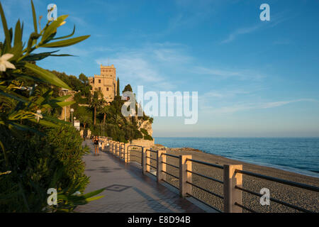 Beach in the evening light, Finale Ligure, Province of Savona, Liguria, Italy - Stock Photo