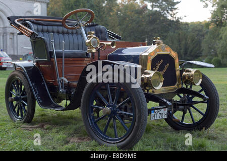 Vintage car, De Dion-Bouton, agricultural machinery exhibition, Bückeburg, Lower Saxony, Germany - Stock Photo