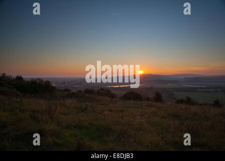 Shoreham at sunset West Sussex England UK - Stock Photo
