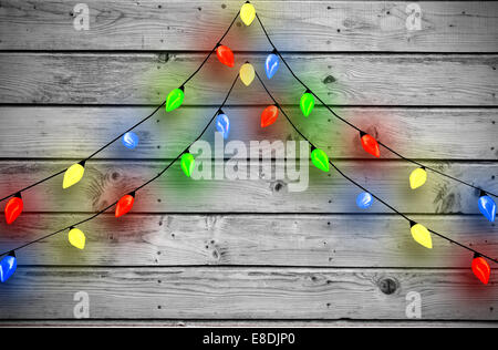 Composite image of decorative lights hanging in a shape - Stock Photo