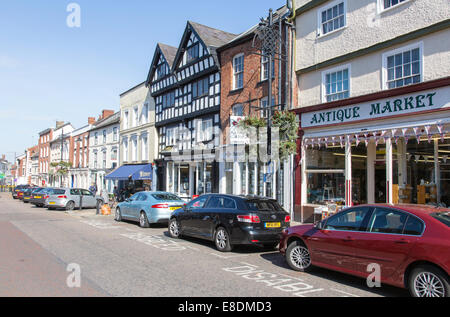 Leominster High Street, Herefordshire, England, UK - Stock Photo