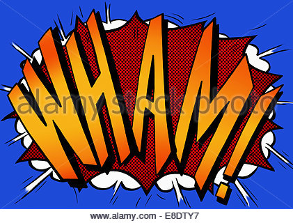Wham Comic Book Text Sound Effect Stock Photo Royalty