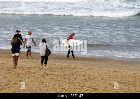 Seignosse, France. 5th Oct, 2014. John John Florence of Hawaii, Quiksilver Pro France 2014, winner today. Credit: - Stock Photo