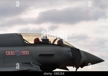 RAF Typhoon Fighter Aircraft - Stock Photo