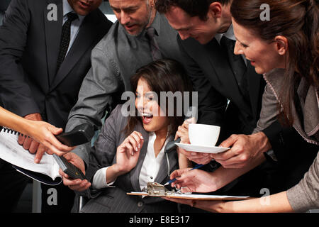 Stressed business woman - Stock Photo