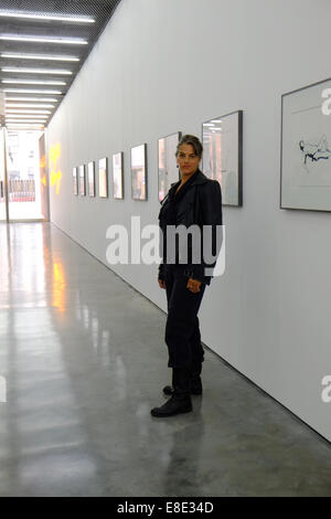 London, UK. 6th October, 2014. Tracey Emin opens her first solo show at The White Cube gallery in 5 years. The show - Stock Photo