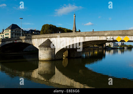 The River Oise, Compiegne, Picardy, France - Stock Photo