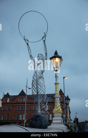 Beacon of Hope sculpture by Andy Scott at Thanksgiving Square Belfast city centre - Stock Photo
