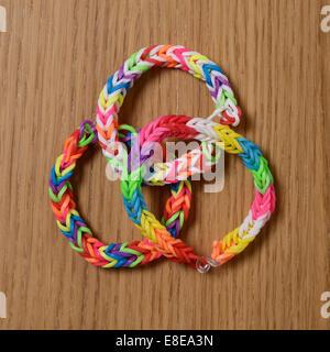 Three Loom Band bracelets - Stock Photo