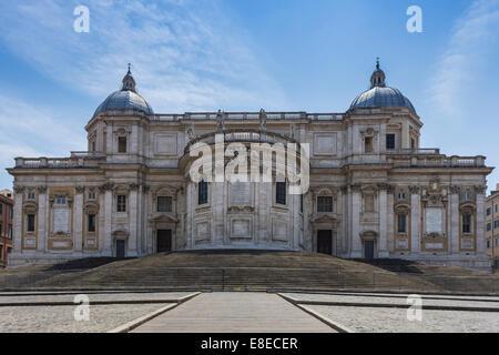 The Basilica di Santa Maria Maggiore (Basilica of Saint Mary Major) located in Piazza del Esquilino, Rome, Italy - Stock Photo