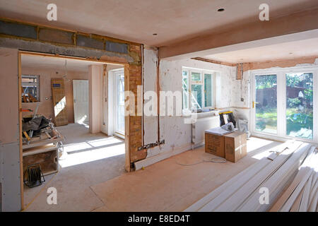 Detached House Interior Alterations To Lounge And Dining Room Nearest Side Extension For