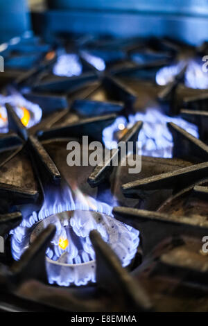 Natural Gas Stove In A Restaurant Kitchen