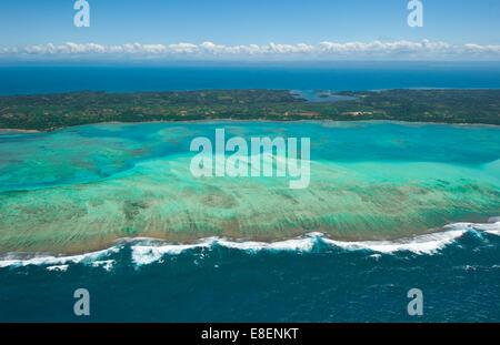 Aerial view of Sainte Marie island, Madagascar - Stock Photo