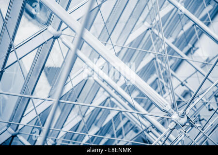 Modern Architectural Skylight Structure Details from Indoor a Building - Stock Photo