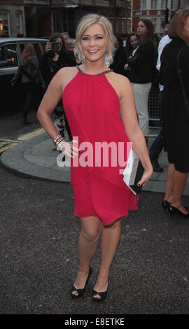 London, UK, 6th October 2014: Suzanne Shaw attends the Pride of Britain awards at The Grosvenor House Hotel in London - Stock Photo