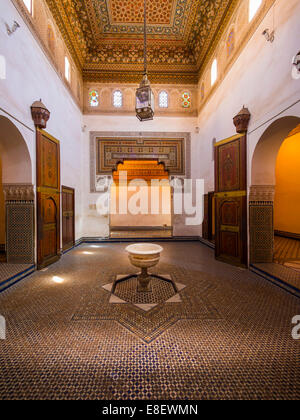 Bahia Palace, Palais Bahia, built on behalf of the Grand Vizier Si Moussa in 1867, Medina, Marrakech, Marrakech - Stock Photo