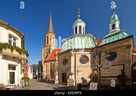 St. Clement's church and Marienkapelle chapel, Telgte, Münsterland, North Rhine-Westphalia, Germany - Stock Photo