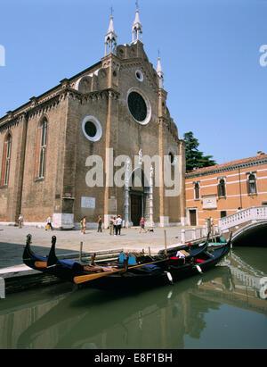 Church of Santa Maria Gloriosa Dei Frari, Venice, Italy - Stock Photo