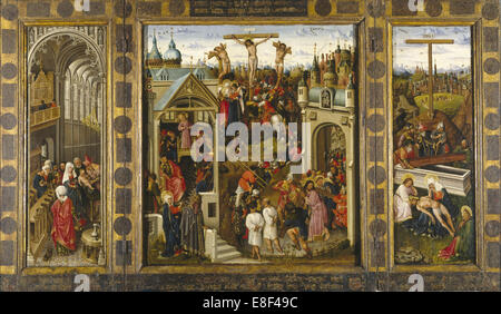 Scenes from the Life of Christ (Triptych). Artist: Alincbrot (Alimbrot), Louis (Lodewijk) (ca 1410-1460) - Stock Photo