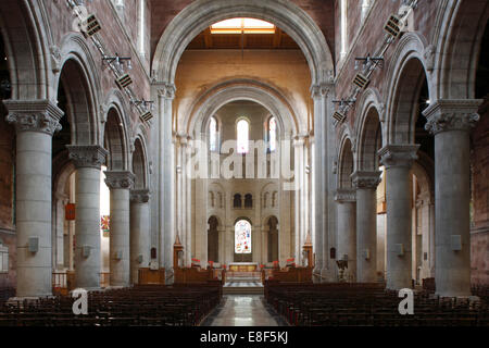 Interior of St Anne's Cathedral, Belfast, Northern Ireland, 2010. - Stock Photo