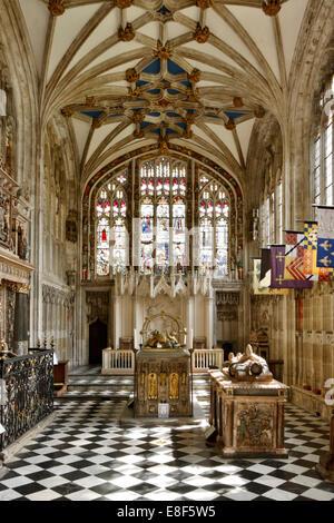 Beauchamp Chapel, the Collegiate Church of St Mary, Warwick, Warwickshire, 2010. - Stock Photo