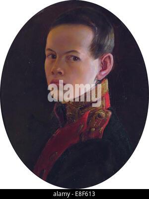 Portrait of the Crown prince Alexander Nikolayevich (1818-1881). Artist: Dawe, George (1781-1829) - Stock Photo