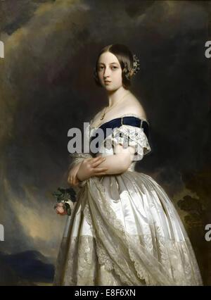 Portrait of Queen Victoria. Artist: Winterhalter, Franz Xavier (1805-1873) - Stock Photo