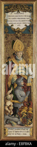 Saint Martin of Tours with Gottfried Werner von Zimmern and a beggar. Artist: Master of Messkirch (ca. 1500-1543) - Stock Photo