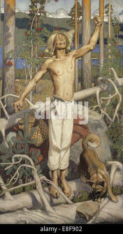 Kullervo's Curse. Artist: Gallen-Kallela, Akseli (1865-1931) - Stock Photo