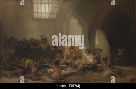 The Madhouse (Asylum). Artist: Goya, Francisco, de (1746-1828) - Stock Photo