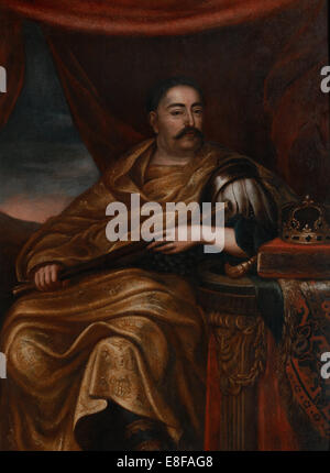 Portrait of John III Sobieski (1629-1696), King of Poland and Grand Duke of Lithuania. Artist: Tricius, Jan (ca - Stock Photo