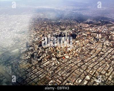 Aerial view of Los Angeles, California, America, USA - Stock Photo