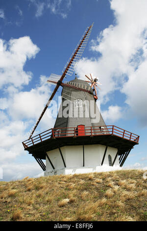 Sonderho windmill against cloudy sky - Stock Photo