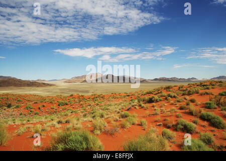 Desert and mountain landscape, Namib-Naukluft National park, Namibia - Stock Photo
