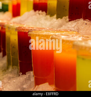 Close-up of fruit juices - Stock Photo