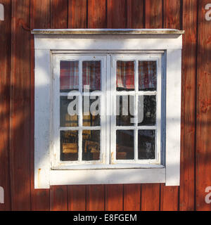 Close-up of cabin window - Stock Photo