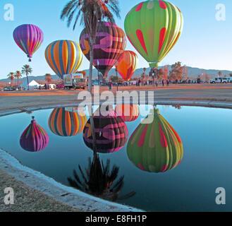 USA, Arizona, Mohave County, Lake Havasu City, Beachcomber Boulevard, Lake Havasu, Lake Havasu Balloon Festival, - Stock Photo