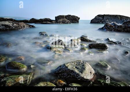 Ireland, Munster, County Cork, Kinsale, Beautiful day at seaside - Stock Photo